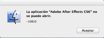 Error 10810 - Adobe After Effects CS6 - CC