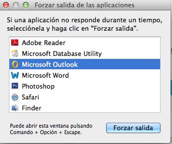 Forzar salida aplicaciones mac os