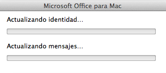 Actualizando identidad - Microsoft Office para Mac