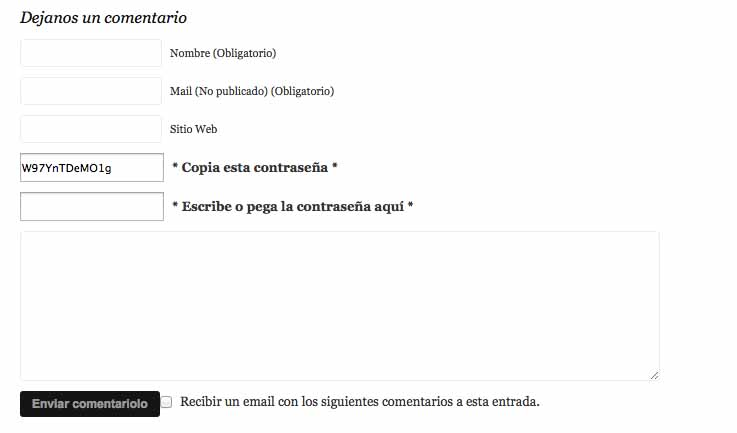 plugin Spam Free Wordpress traducido