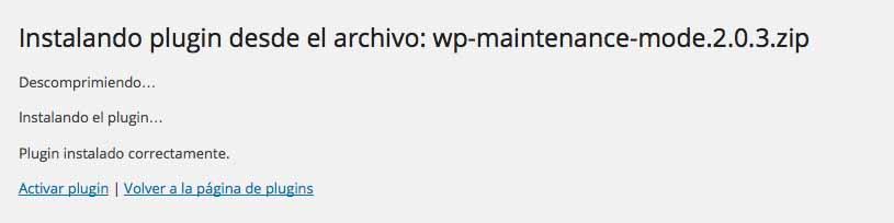 Instalando plugin desde archivo
