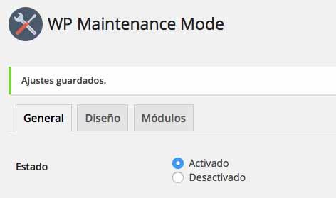 Activar o desactivar mi sitio web wordpress para tareas de mantenimiento