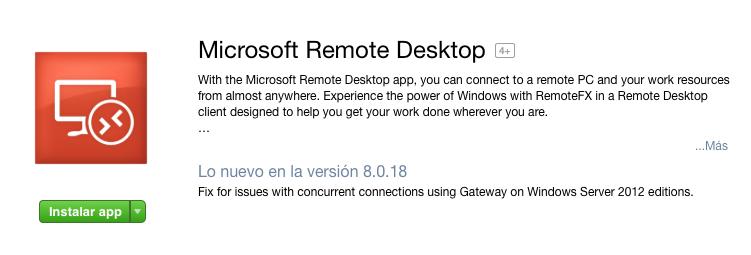 Instalar Microsoft Remote Desktop