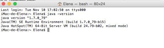 Comprobar versión Java