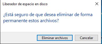 Seguro eliminar archivos windows