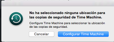 Configurar Time Machine