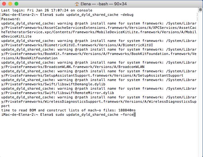 Acelarar earranque de Mac OS High Sierra paso 2