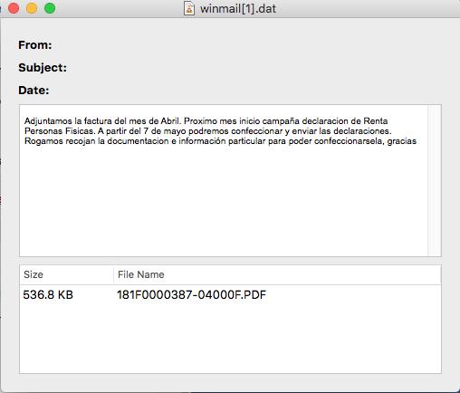abrir archivo winmail.dat en Outlook mac os
