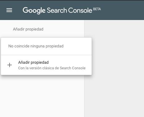 Añadir propiedad google search console