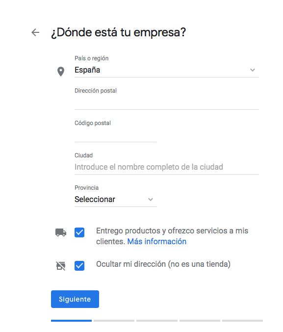 Alta google mybussines