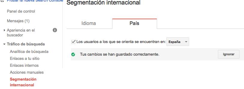 segmentación internacional