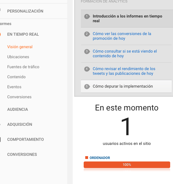 Usuario activo Google Analytics