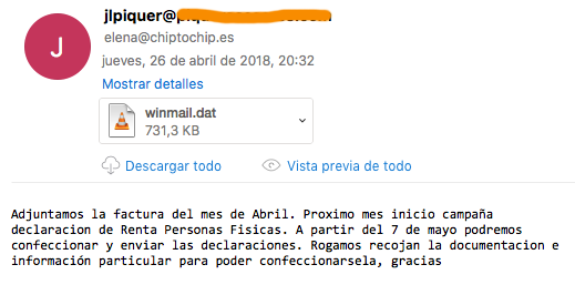 winmail.dat outlook 2011 mac os